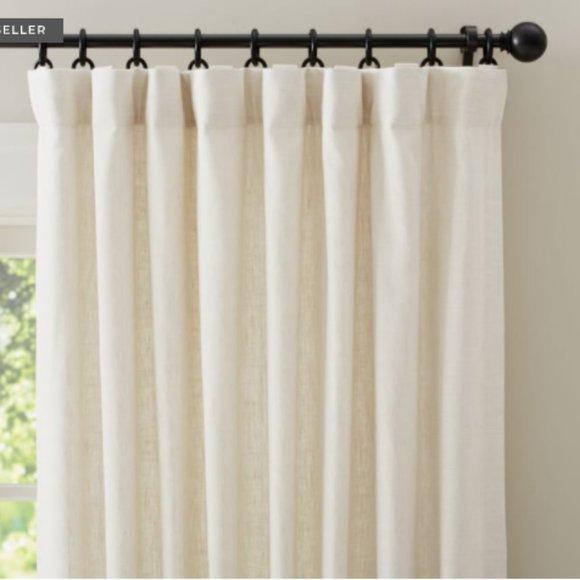 $100 OFF!{1} Emery Linen/Cotton Rod Pocket Curtain